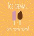 Ice creams background vector image