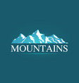 logo of alpine mountains vector image