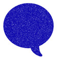 message bubble icon grunge watermark vector image