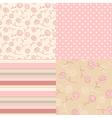 patterns vintage pink vector image