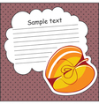 Card with apple and message cloud vector image vector image