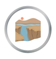 Grand Canyon icon in cartoon style isolated on vector image