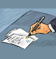 Businessman signing act vector image