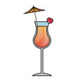 alcohol drink icon cold cocktail with umbrella in vector image