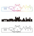 tegucigalpa skyline linear style with rainbow vector image