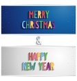 Blue and gray horizontal banner with xmas a vector image vector image