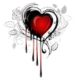 Heart drawn with paint vector image