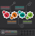 Gear infographic vector image