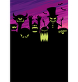 Monsters Background vector image vector image