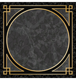 Marble Background with Frame Border vector image vector image