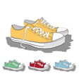 Set of low sneakers vector image
