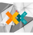Business geometric option steps infographics vector image