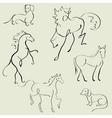 animals design set vector image