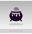 Halloween witch cauldron icon vector image