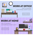 Home and office work place concept vector image