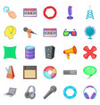 applications icons set cartoon style vector image