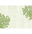 Decorative trees background with grunge texture vector image