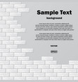 gray brick wall with text vector image