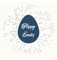 Happy easter and vintage sun burst frame vector image