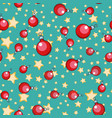 seamless pattern christmas ball tree ornament vector image