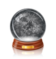 Snowy glass ball vector image