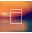 book icon on blurred background vector image