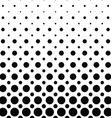 Black and white dot pattern background vector image