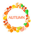 autumn abstract floral background - circle from vector image vector image