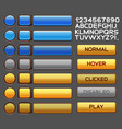 game buttons gui pack pack vector image vector image
