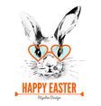 Hipster Easter rabbit Card vector image