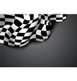 checkered race flag vector image vector image