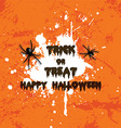 grunge halloween spider background 2708 vector image