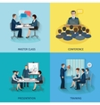 Conference Flat Set vector image