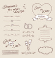 drawing elements for design wedding vector image