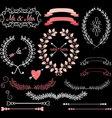 Chalkboard Wedding Elements vector image vector image