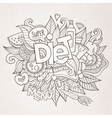 Diet hand lettering and doodles elements vector image