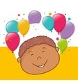 Kids birthday celebration cartoon vector image