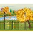 landscape of autumn city Park vector image
