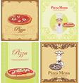 Pizza Menu Template set vector image