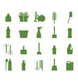 professional maid service janitor supplies home vector image