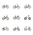Realistic equilibrium extreme biking adolescent vector image