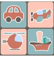 seamless pattern with cartoon transport vector image