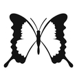 Swallowtail butterfly icon simple style vector image