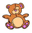 teddy bear hand drawn cartoon vector image