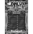 Vintage Bacon Menu on Blackboard for Restaurant vector image