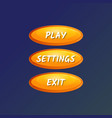 yellow oval options panel isolated set vector image