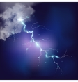 Realistic thunderstorm background vector image