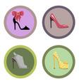 glamorous high-heeled shoes set vector image