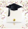 congratulatory background on graduation vector image