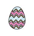 drawing colored easter egg celebration spring vector image